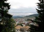 Ein Blick auf Vatra Dornei vom Campingplatz aus.