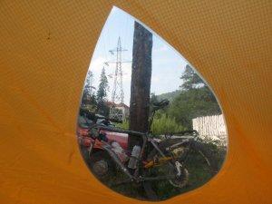 Blick aus meinem Zelt.