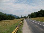 Straße durch die Karpaten.