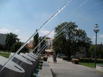 Wasserspiele in Gyula.