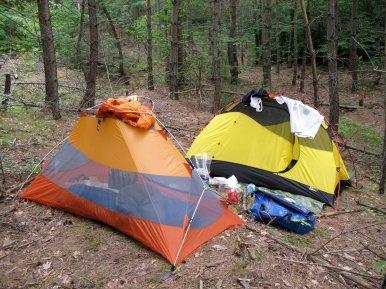 Mal wieder: unsere Zelte.