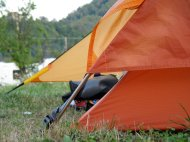 Marmot EOS 2P - großer Abstand des Außenzeltes zum Boden