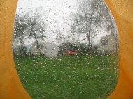 Blick aus meinem Marmot EOS 2P - aus dessen Fenster.