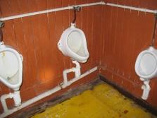 Die Sanitäranlagen wollte ich auch mal...