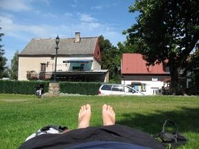 Der kleine Campingplatz in Karlsbad.