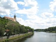 Der Zusammenfluss der Moldau und Elbe.