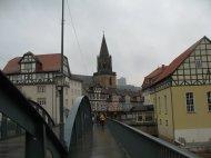 Blick von der Fuldabrücke in Rotenburg