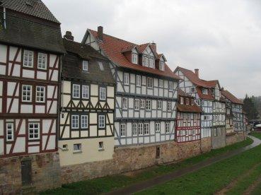 Rotenburger Fachwerkhäuser am Fuldaufer