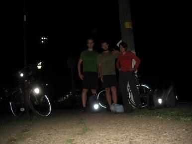Ahja, die Ankunft in Rumänien in der Nacht. Schlechtes Foto!