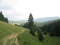 Der Zugang zu einem benachbarten Tal.