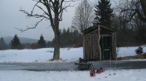 Toilettenhäuschen im Böhmerwald.