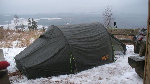 Das Jack Wolfskin Sanctuary 2 RT auf dem Soonwaldsteig.