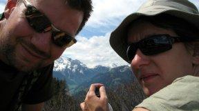Magda und ich auf dem Berg.