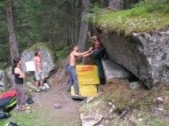 Erstes Bouldern.