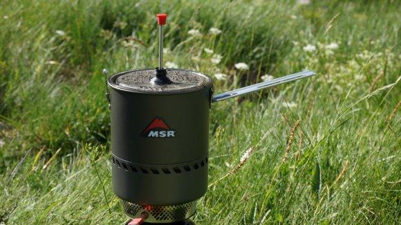Der MSR Reactor als Kaffeepresse.