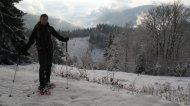 Auch wenn der Schnee nun wirklich nicht tief war - zumindest hier noch nicht - lief ich auf meinen Schneeschuhen, die haben einfach Grip.