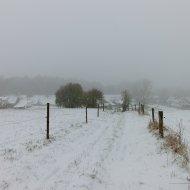 Sonderlich tief war der Schnee an diesem Wochenende nirgends, aber schön war es allemal.