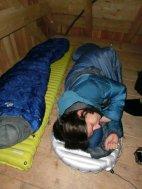 Die Wegscheid-Hütte hat einen Dachboden, der sich herrlich zum drin nächtigen eignet..